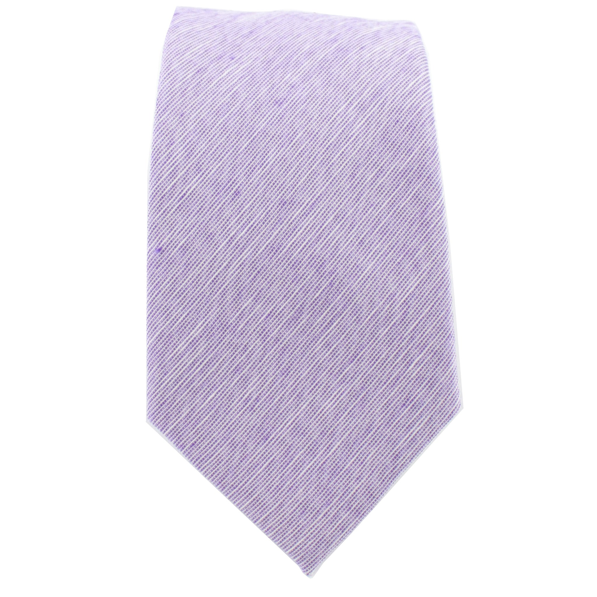Light Purple Linen Tie from DIBI