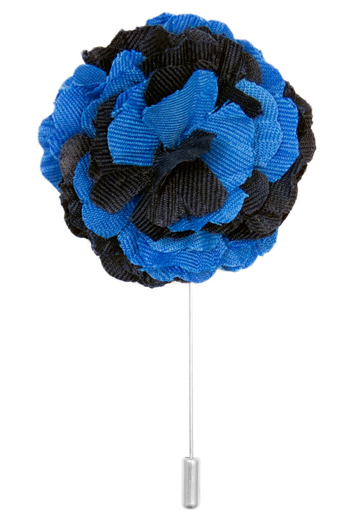 Royal Blue & Navy Blue Lapel Pin