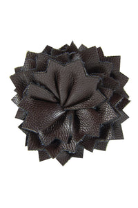 Dark Brown Leather Lapel Pin