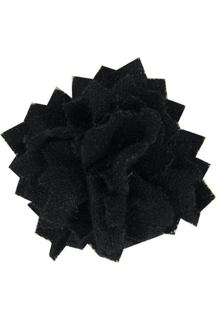 Black Wool Lapel Pin