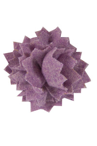 Plum Wool Lapel Pin