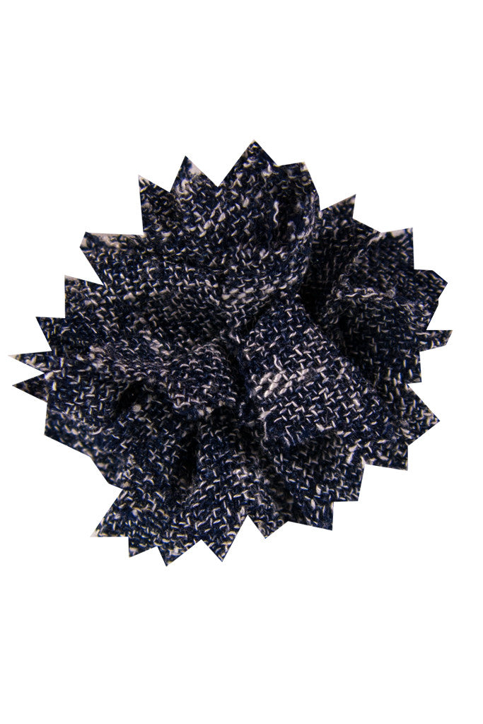 Heather Dark Navy Lapel Pin