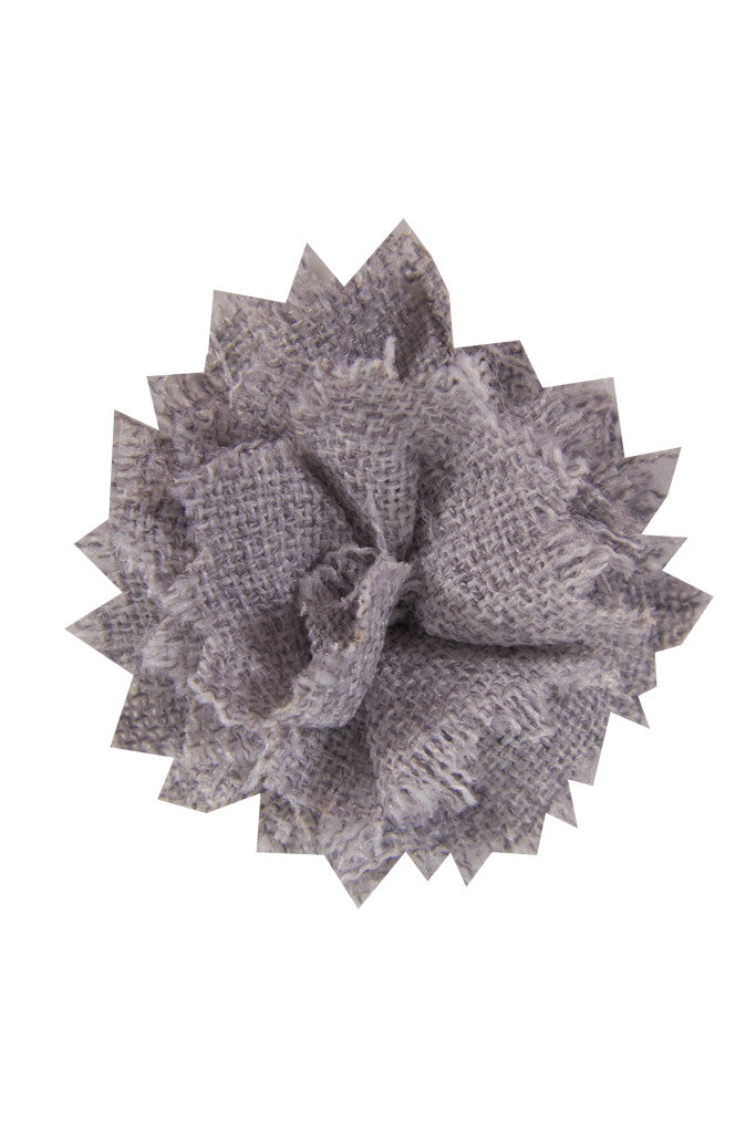 Light Grey Linen Lapel Pin