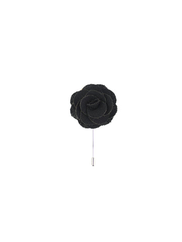 Burlap Black Lapel Pin from DIBI
