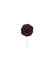 Cotton Burgundy Lapel Pin from DIBI