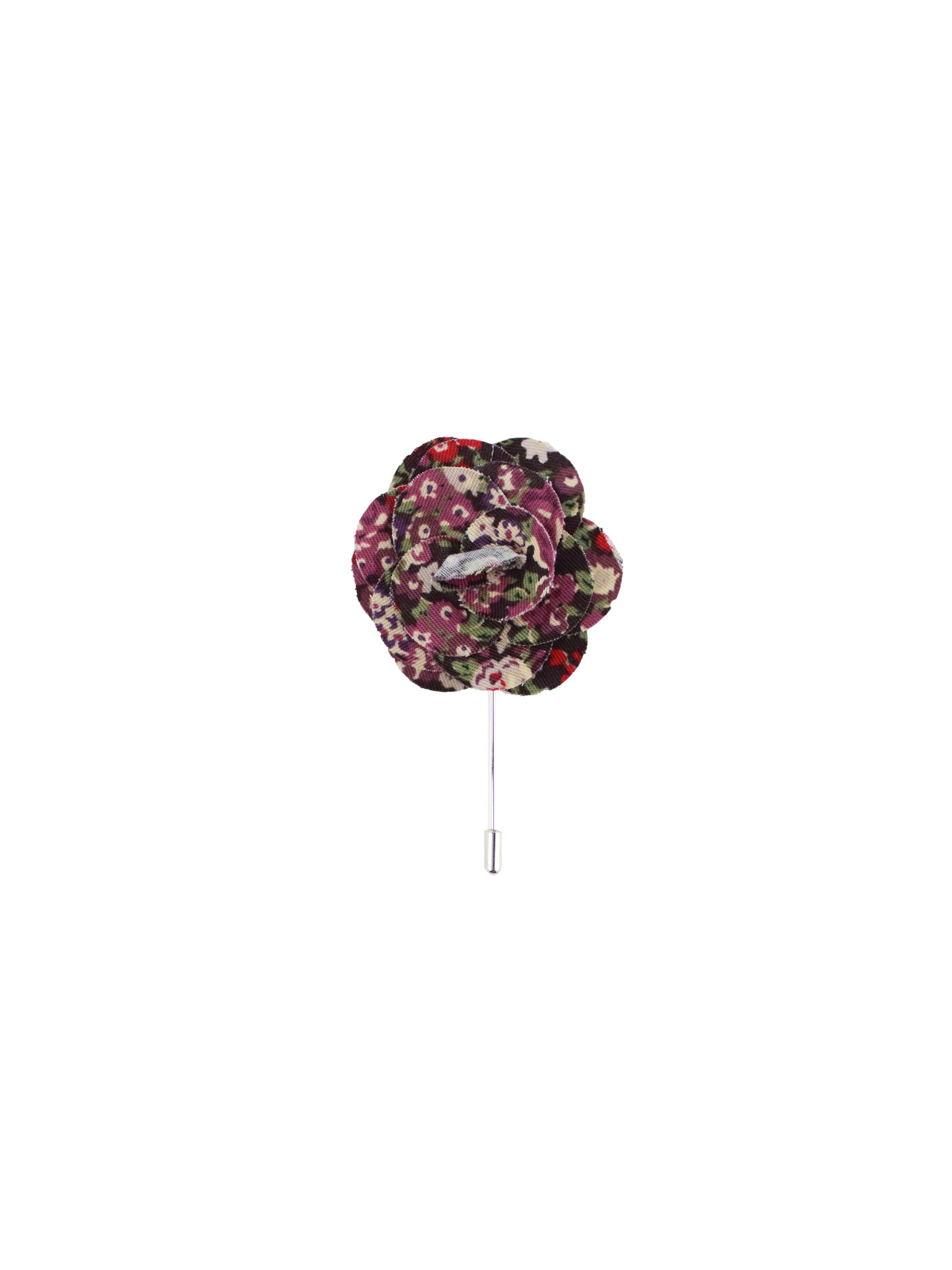Purple & Plum Multi Floral Lapel Pin