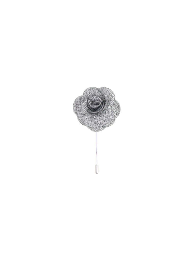 Silver & Charcoal Heather Lapel Pin