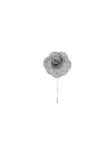 Silver & Charcoal Heather Lapel Pin from DIBI