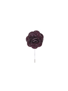 Burgundy Wool Textured Lapel Pin from DIBI