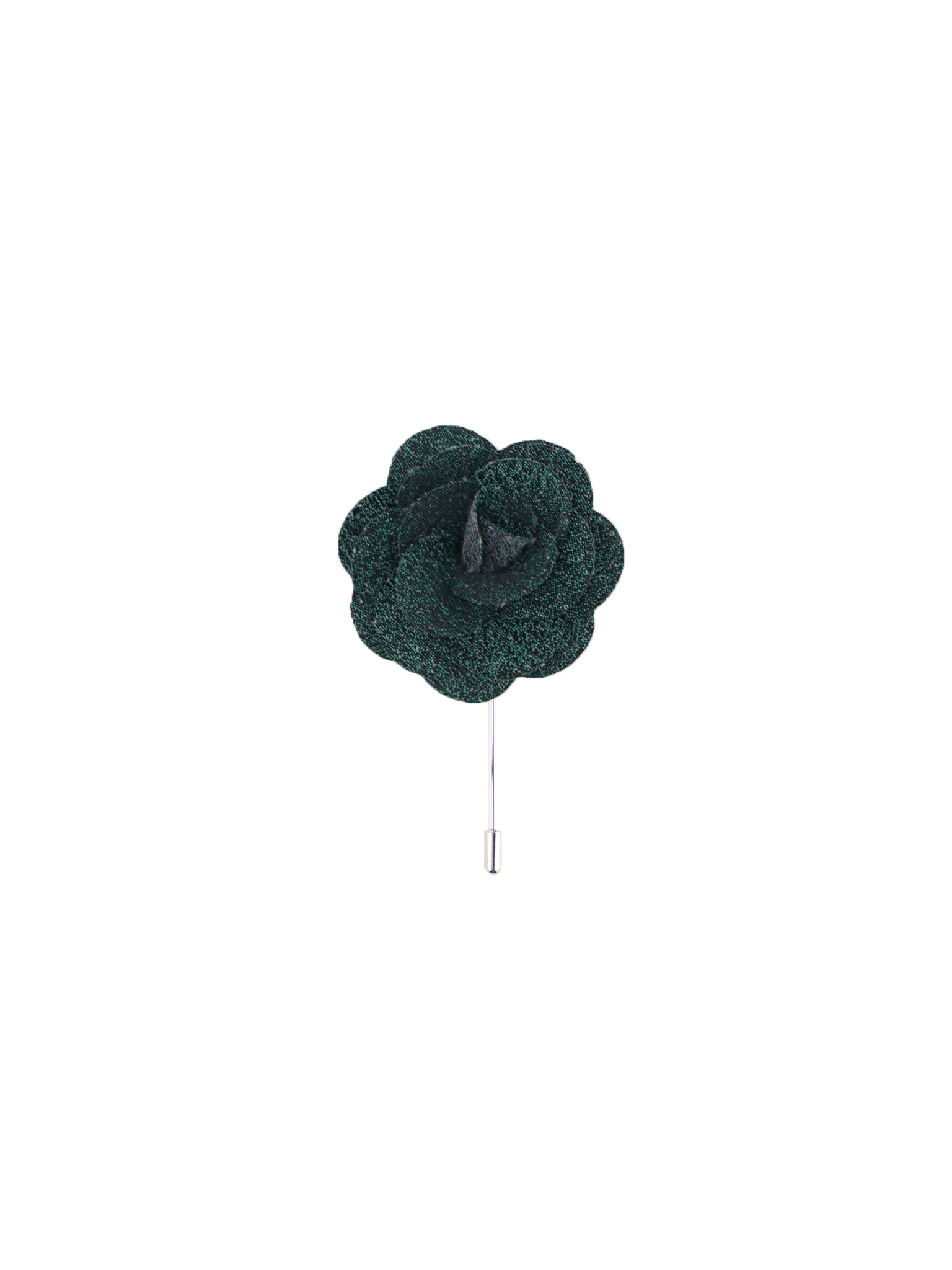 Hunter Green Textured Lapel Pin