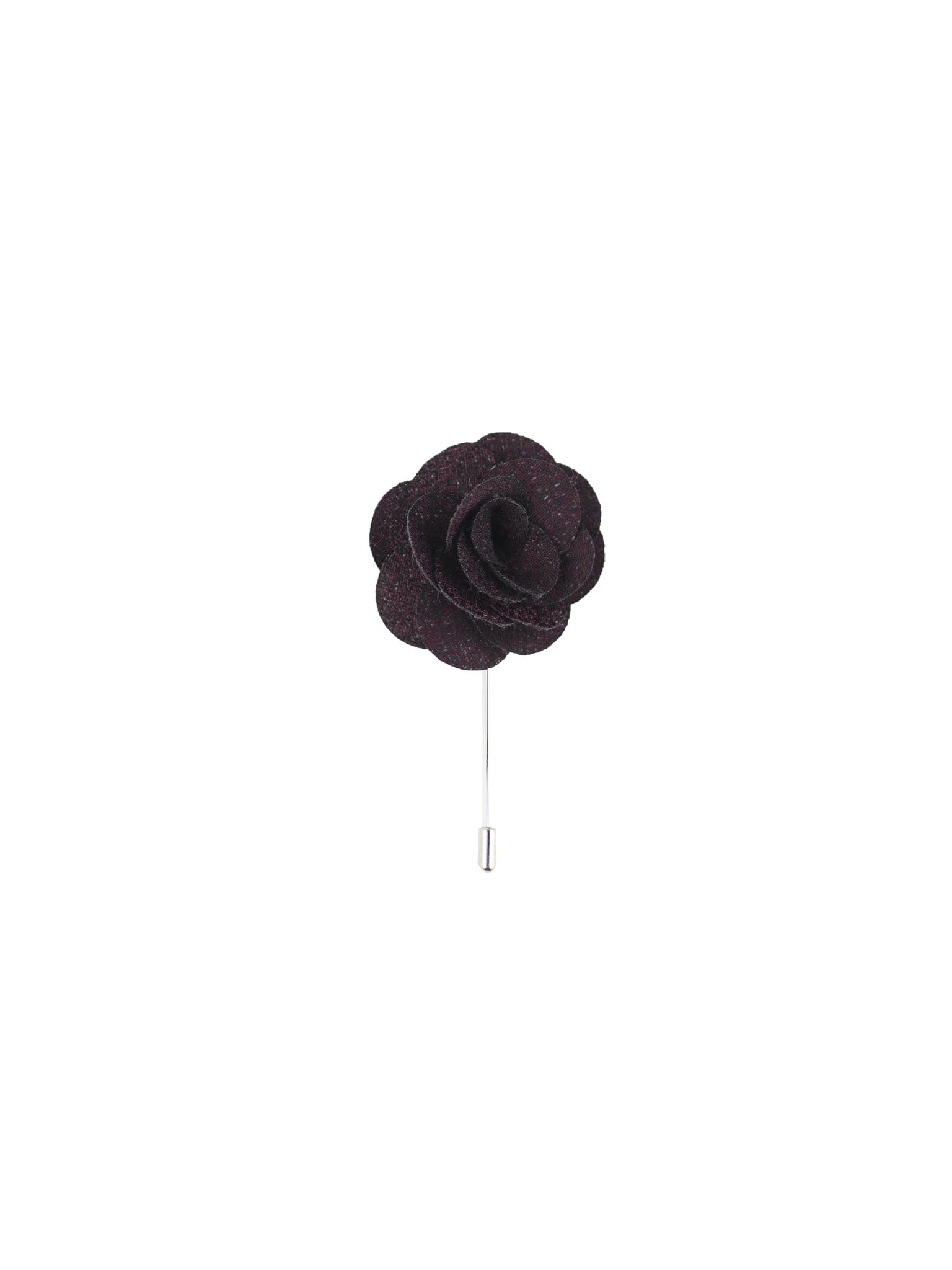 Burgundy Textured Lapel Pin from DIBI