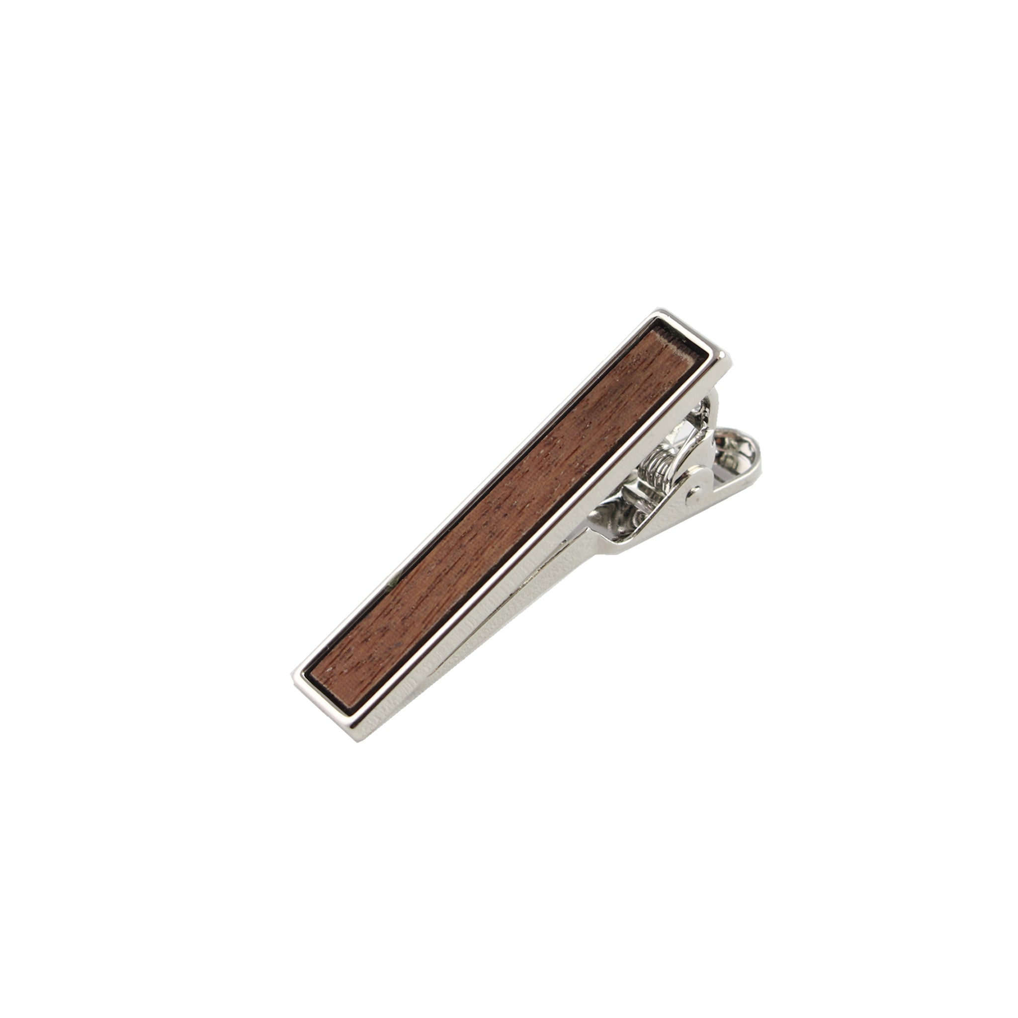 Macaranduba Wooden Inlay-Silver Tie Bar from DIBI