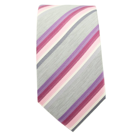 Pink & Purple Striped Tie
