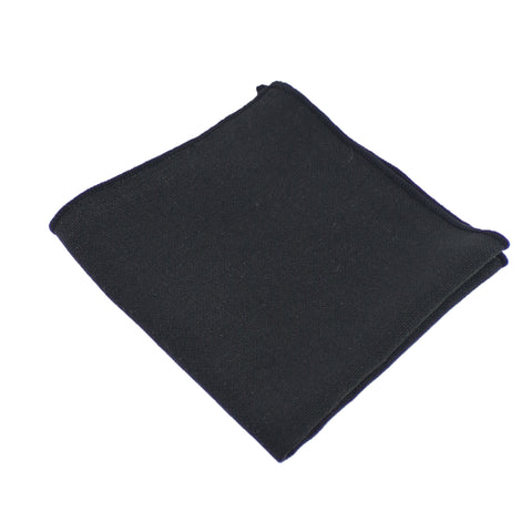 Burlap Black Pocket Square from DIBI