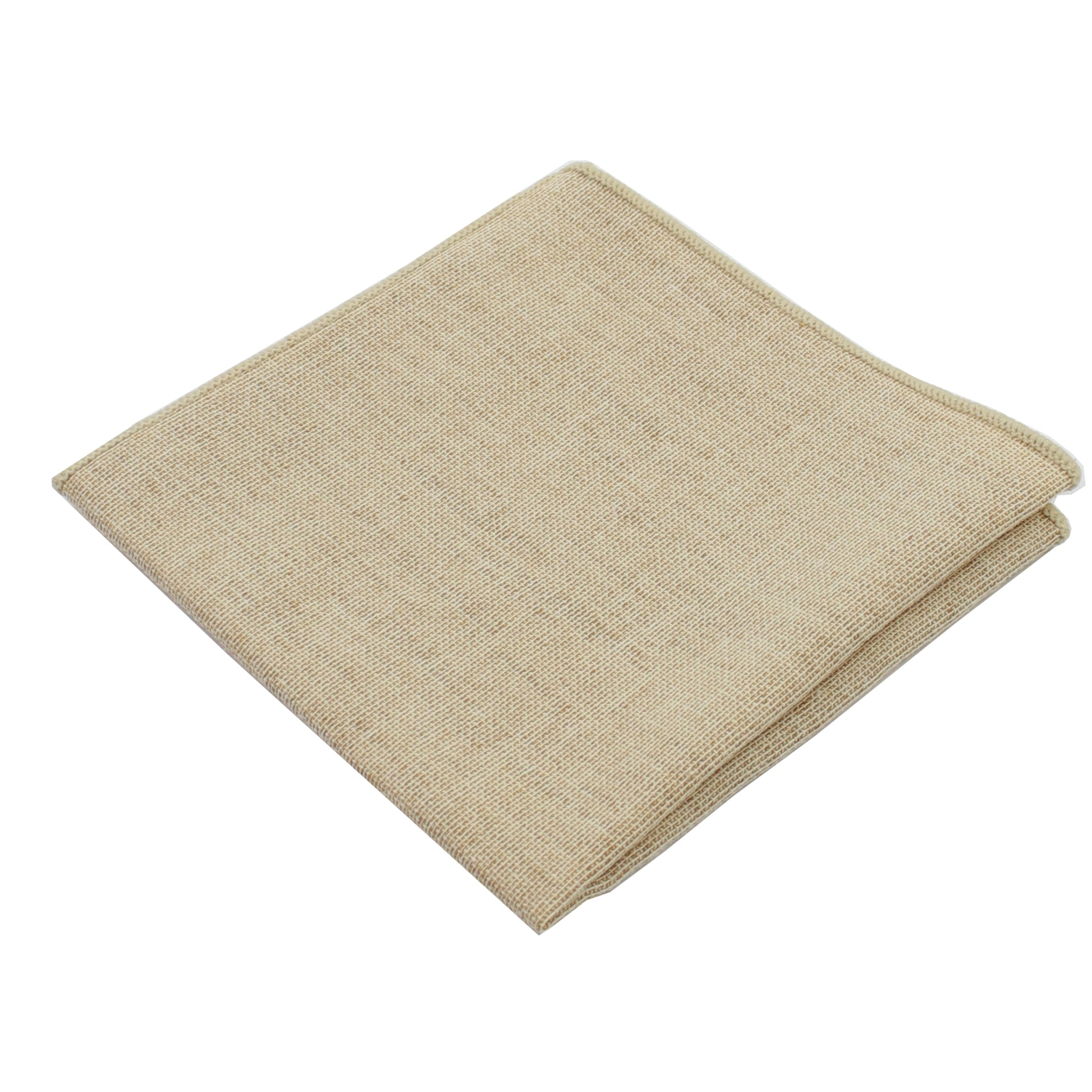 Burlap Sand Pocket Square from DIBI