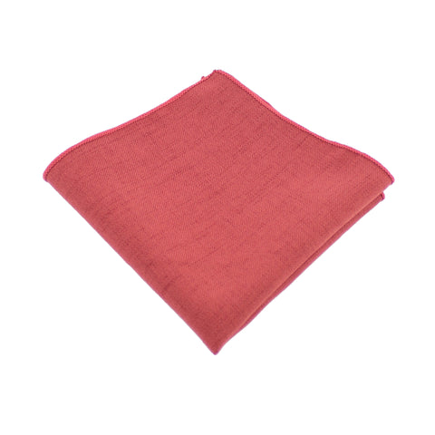 Cotton Burnt Orange Pocket Square from DIBI