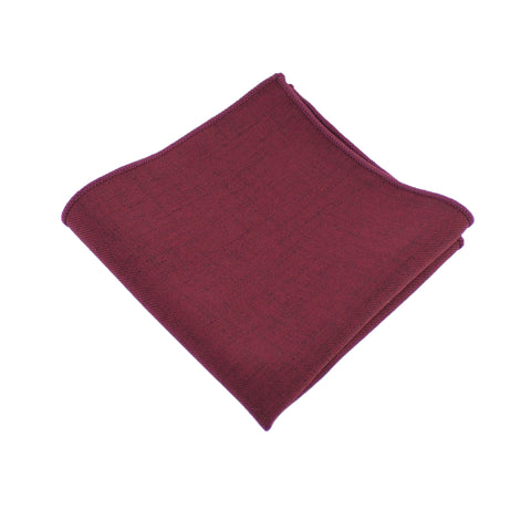 Cotton Burgundy Pocket Square