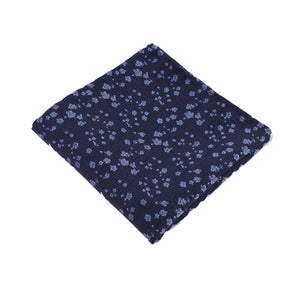 Navy & Light Blue Floral Pocket Square from DIBI