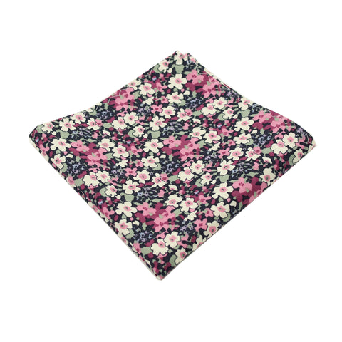 Multi Purple Floral Cotton Pocket Square