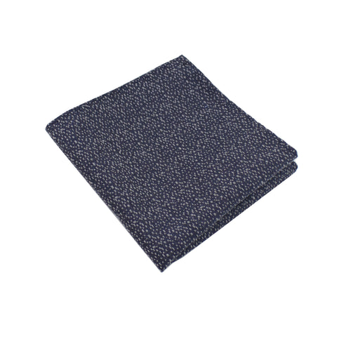 Charcoal & Silver Heather Pocket Square from DIBI