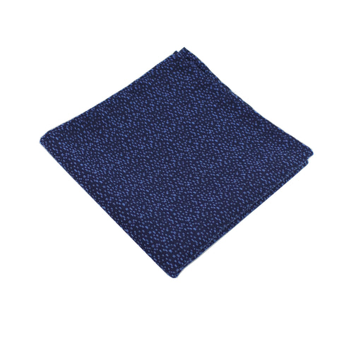 Navy & Sky Blue Heather Pocket Square