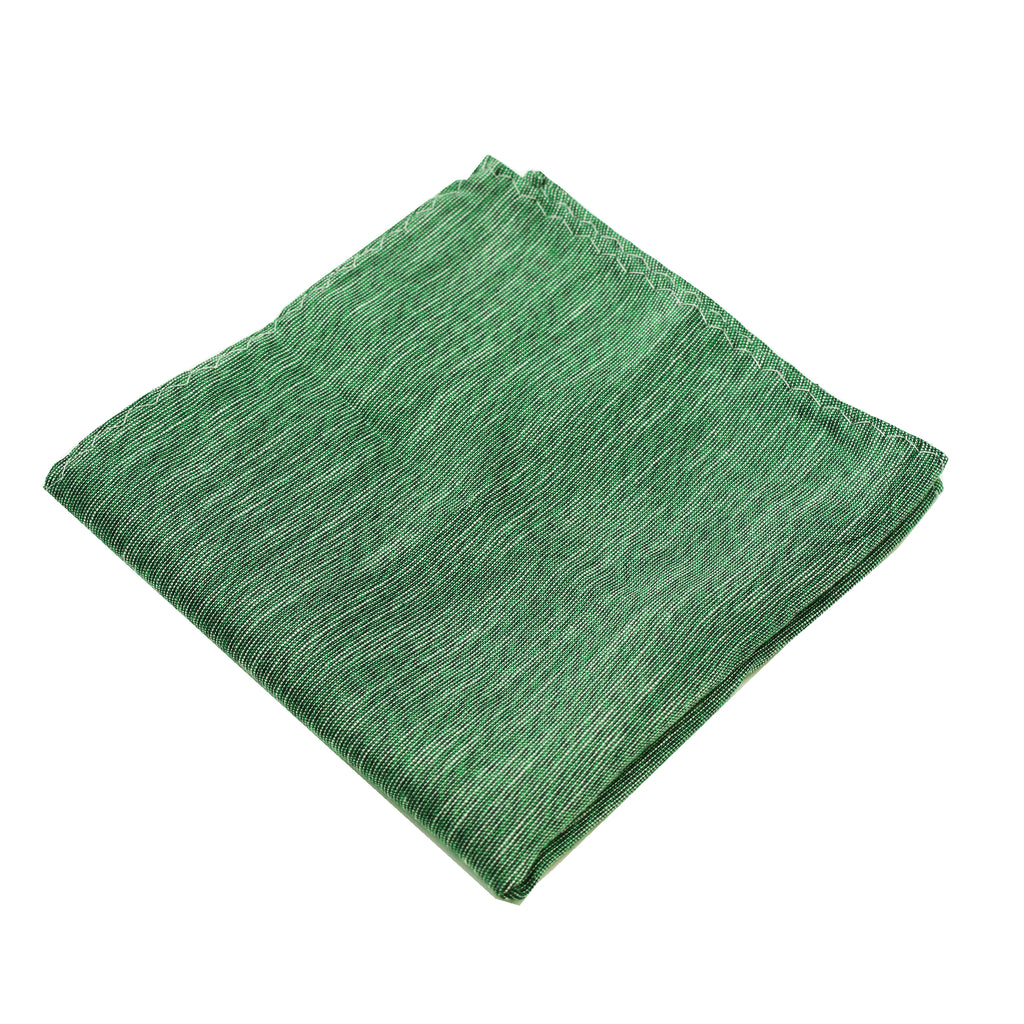 Green & Black Linen Pocket Square