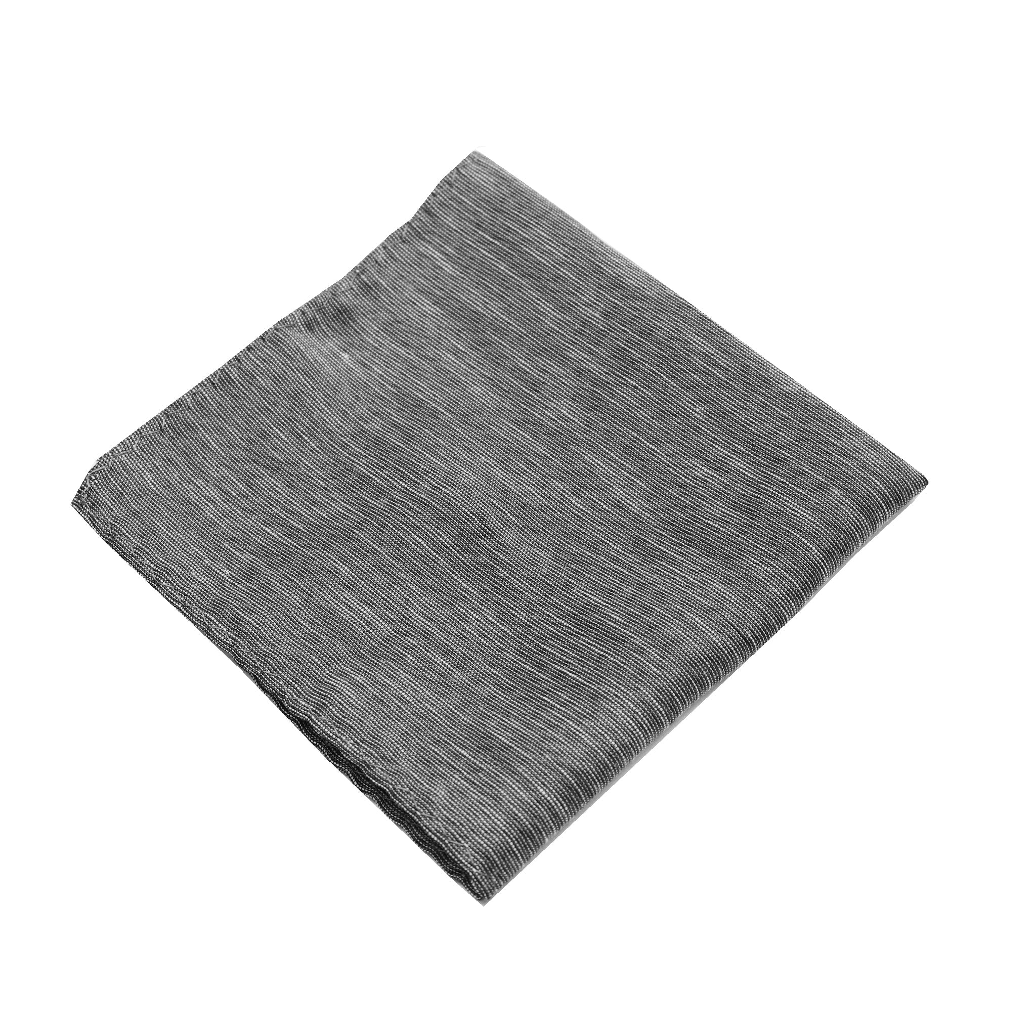 Grey Linen Pocket Square