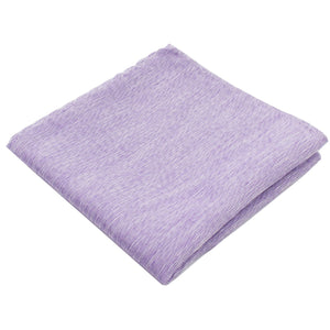 Light Purple Linen Pocket Square from DIBI