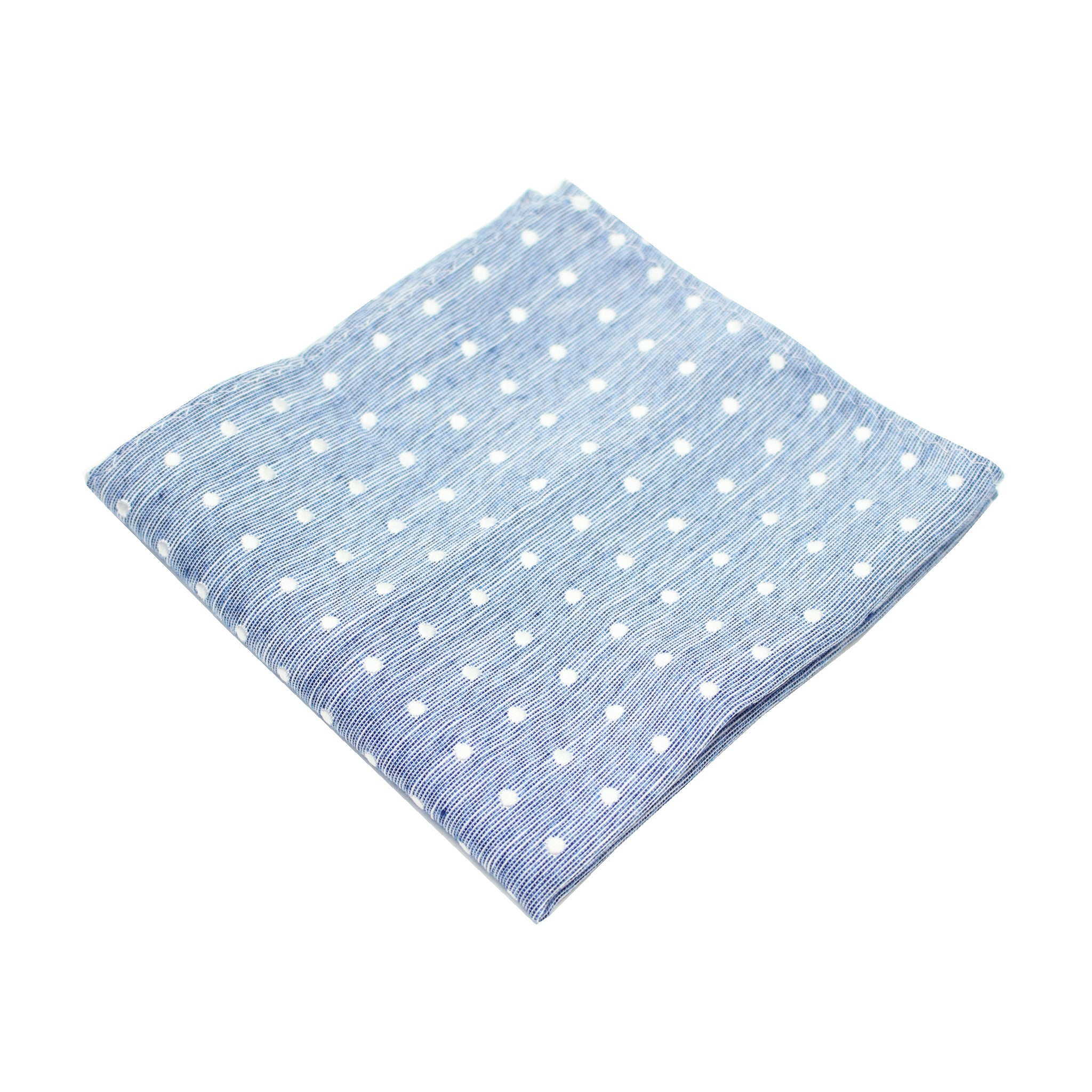 Blue & White Polkadot Pocket Square