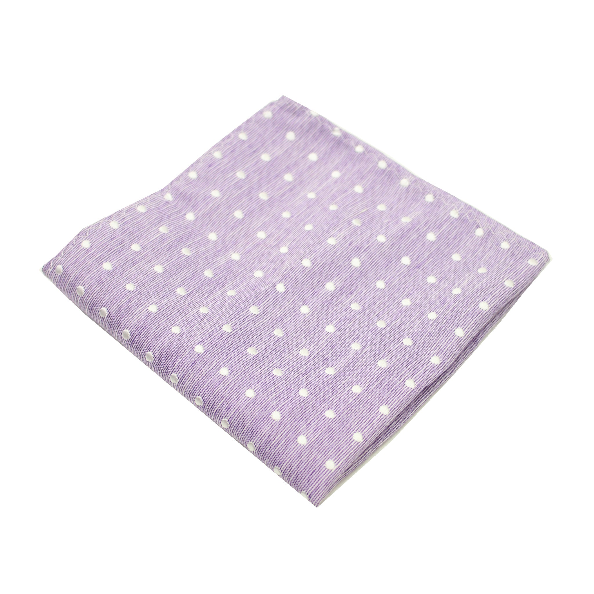 Lavender & White Polkadot Pocket Square