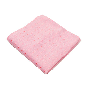 Pink & Pink Polkadot Pocket Square