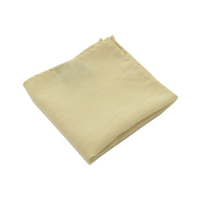 Khaki & White Linen Pocket Square