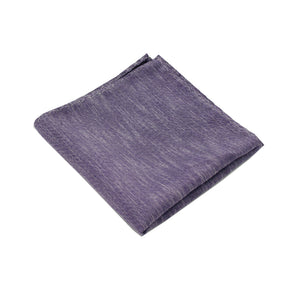 Purple & Black Linen Pocket Square