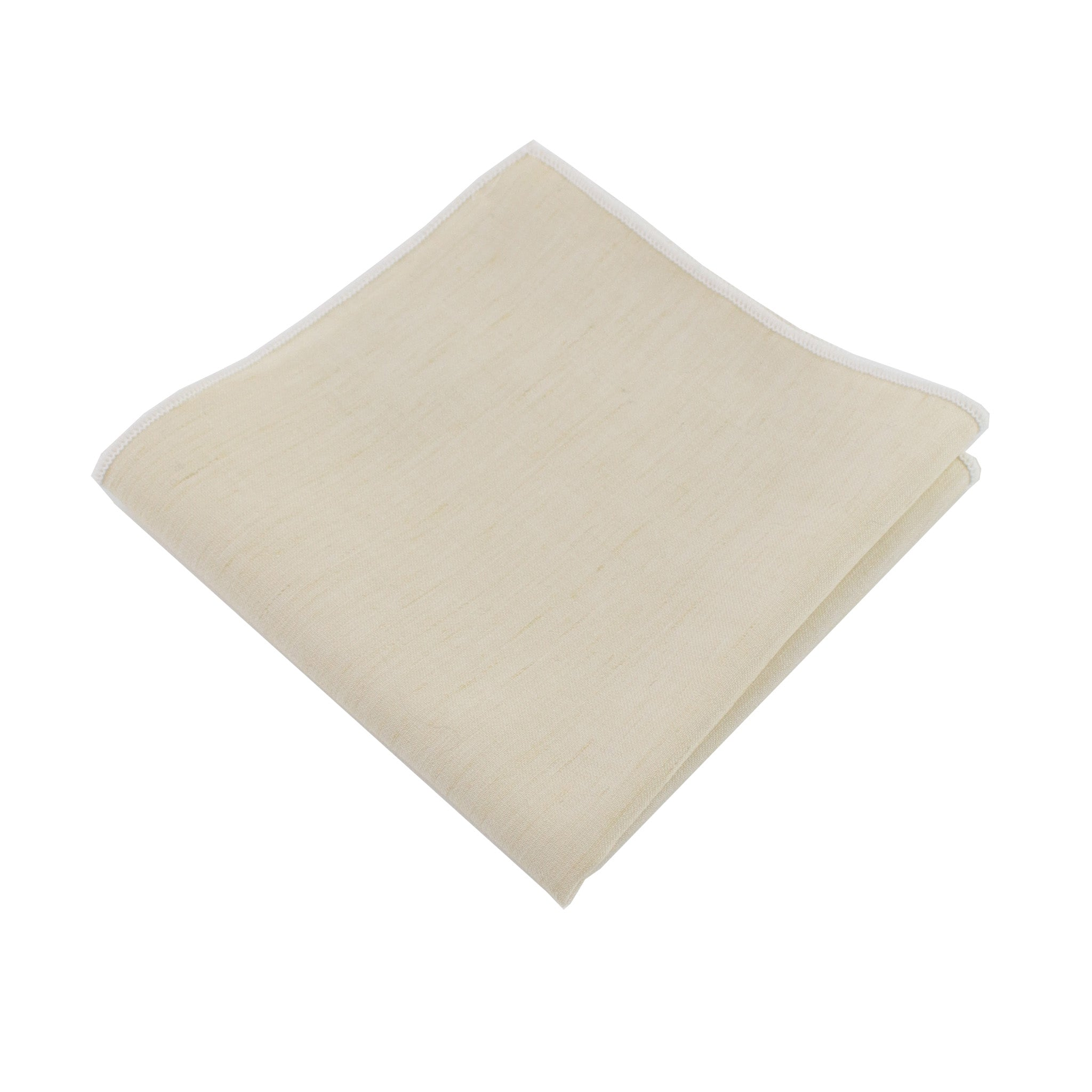 Lightweight Ivory Pocket Square from DIBI