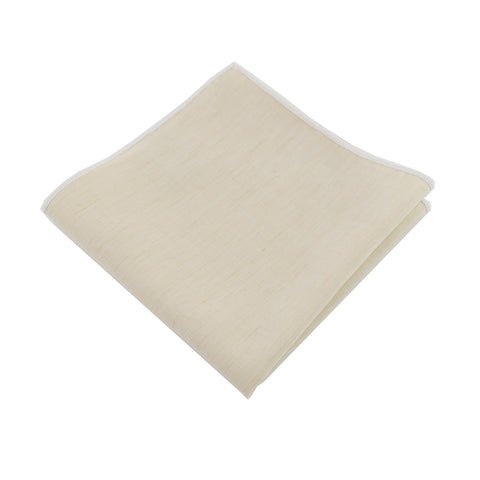 Lightweight Ivory Pocket Square