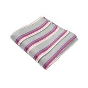 Pink & Purple Striped Pocket Square