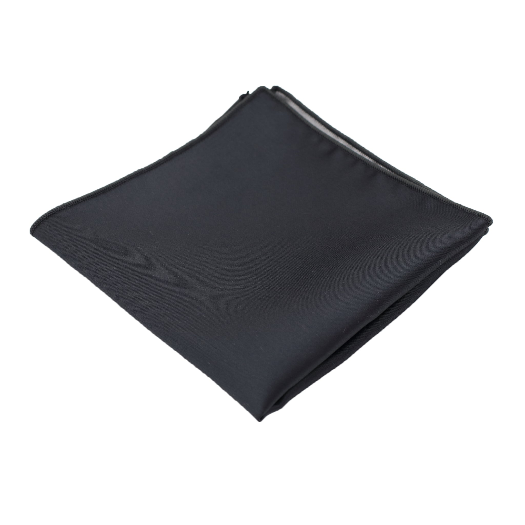 Charcoal Satin Pocket Square