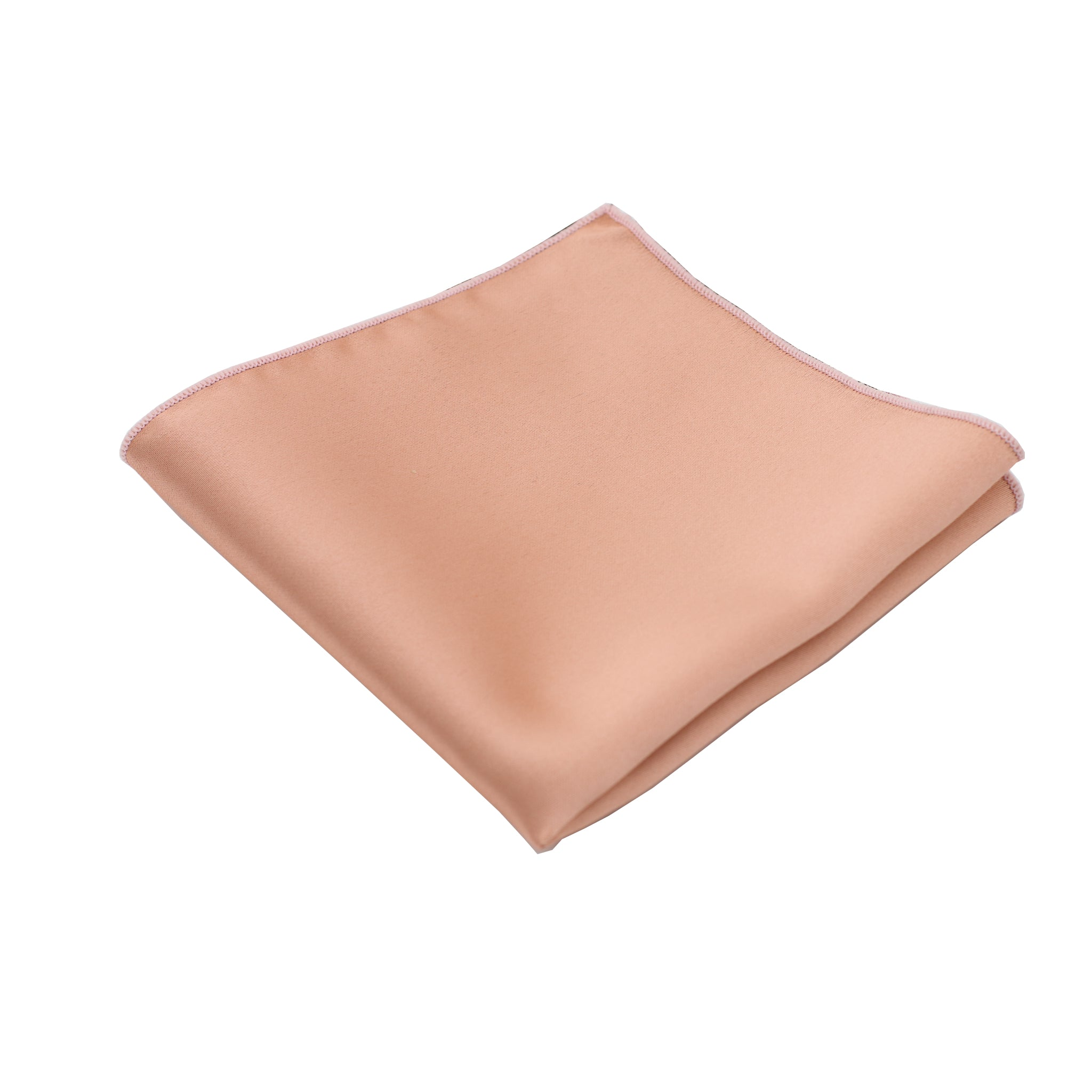 Dusty Rose Satin Pocket Square
