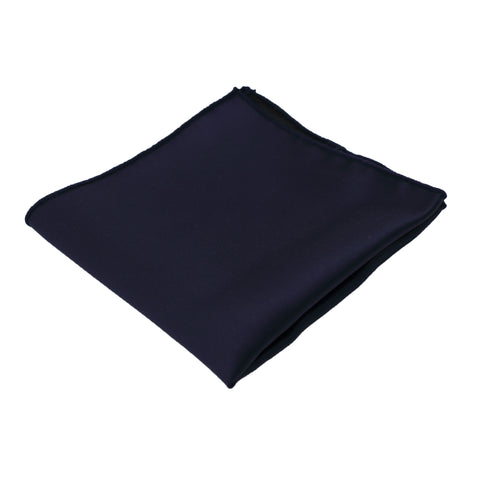 Navy Satin Pocket Square