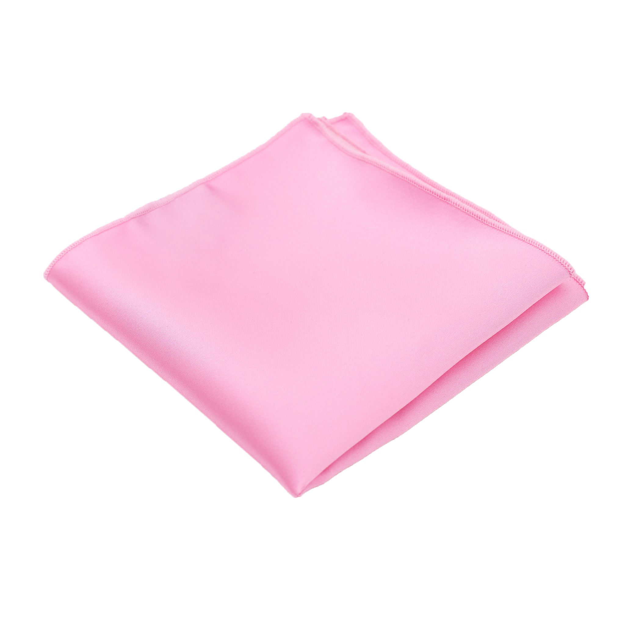 Pink Satin Pocket Square