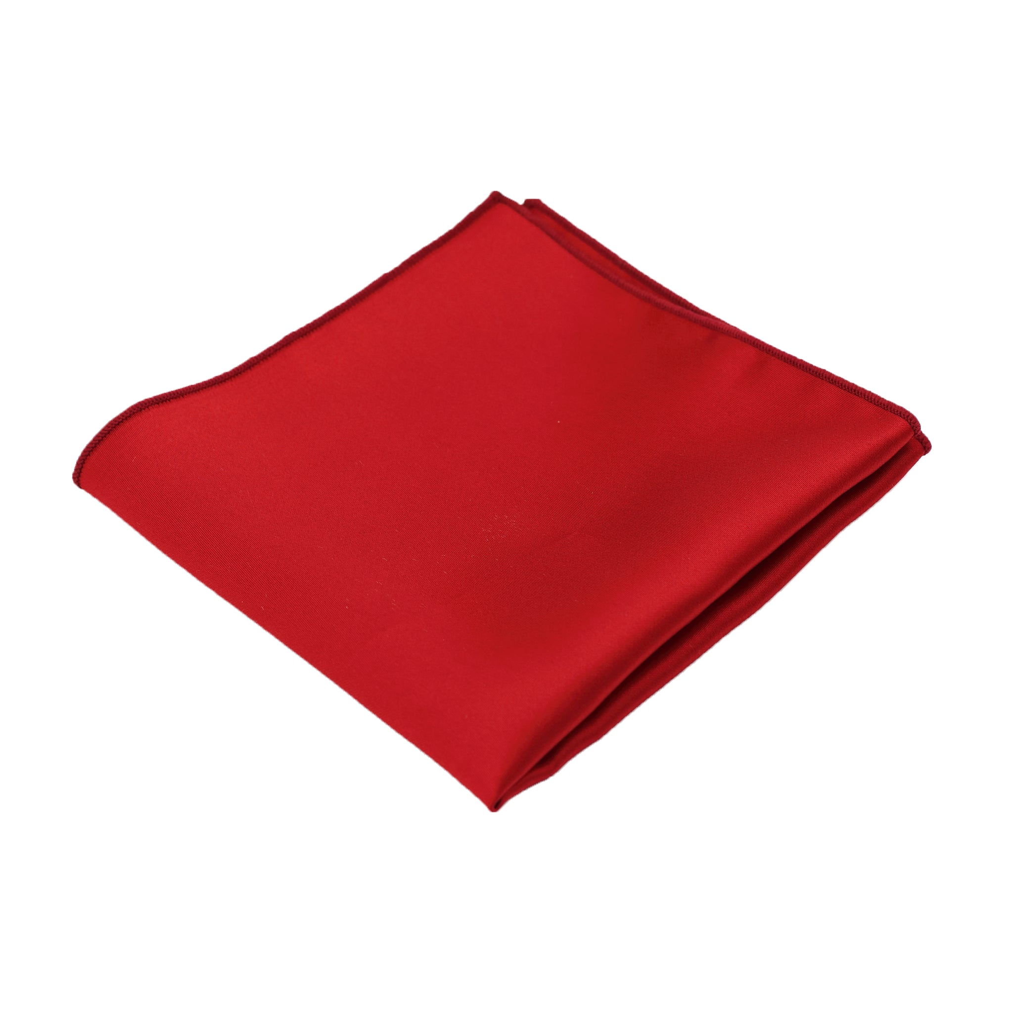 Red Satin Pocket Square