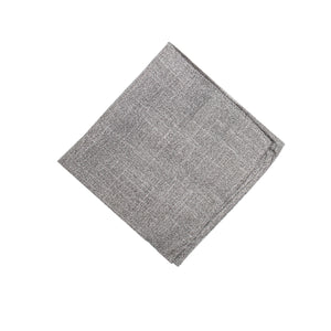 Heather Grey Pocket Square