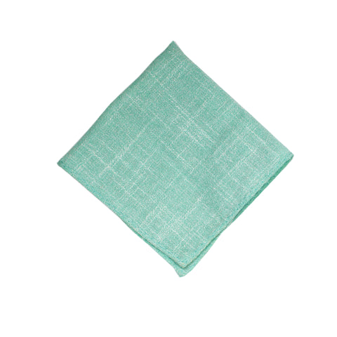 Heather Seafoam Green Pocket Square