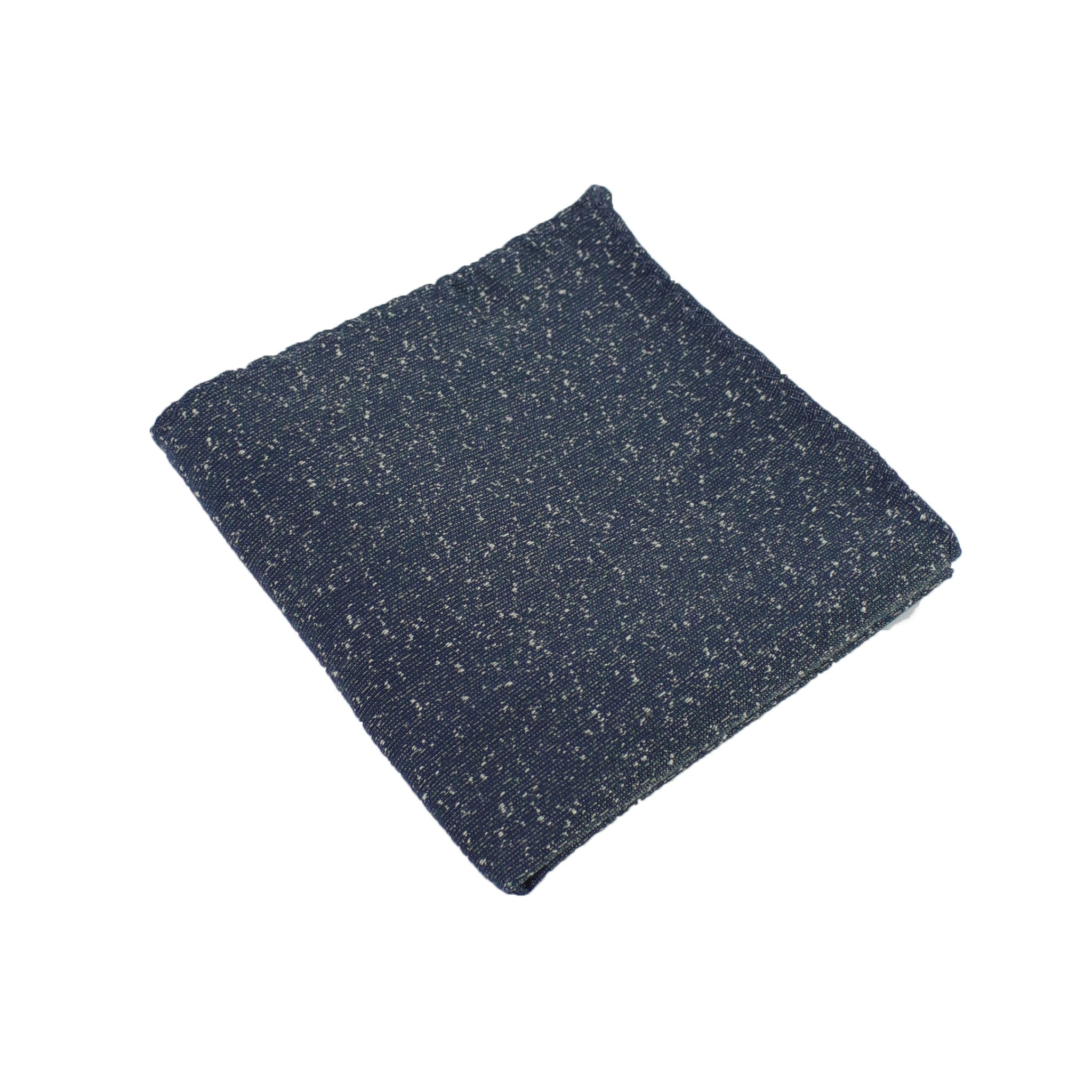 Dark Teal Speck Pocket Square from DIBI