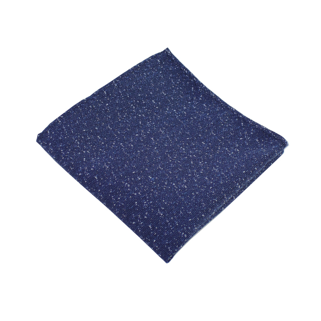 Navy Speck Pocket Square