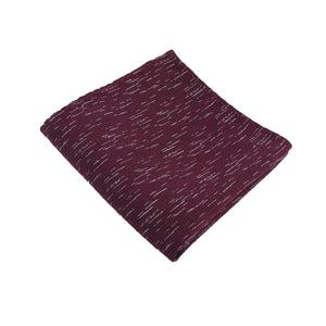 Burgundy Wool Textured Pocket Square from DIBI