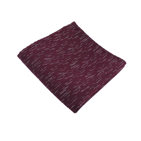 Burgundy Wool Textured Pocket Square