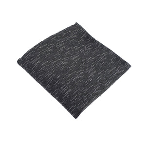 Charcoal Wool Textured Pocket Square from DIBI