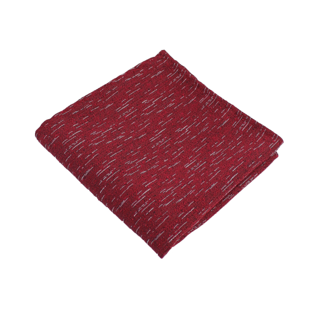 Red Wool Textured Pocket Square