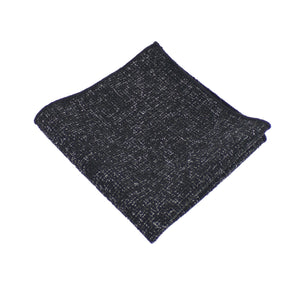 Black Twill Pocket Square from DIBI